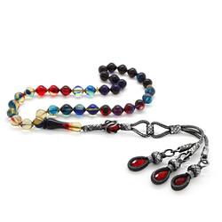 1000K Silver Tassel Tassel Istanbul Fire Amber Prayer Beads Filtered Bonibon Cut - Thumbnail