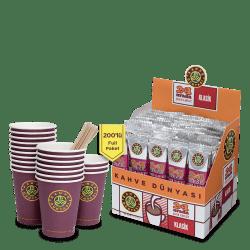 Kahve Dünyası - قهوة كلاسيك 2 في1 علبة 200 ظرف قهوة دنياسي