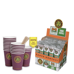Kahve Dünyası - قهوة بالبندق 2 في 1 علبة 200 ظرف قهوة دنياسي