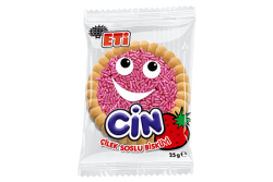 Eti - ETİ Cin Strawberries Jelly Biscuit 36 Pieces