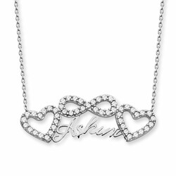 My Love Written 925 Sterling Silver Necklace - Thumbnail