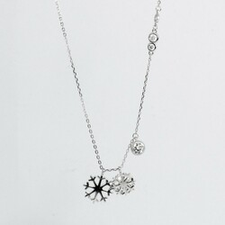 925 sterling silver women's necklace (Model 71) - Thumbnail