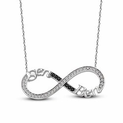 You Me Infinity 925 Sterling Silver Necklace - Thumbnail