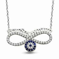 I Love You 925 Sterling Silver Necklace - Thumbnail