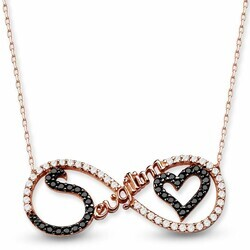 My Love Infinity 925 Sterling Silver Necklace - Thumbnail