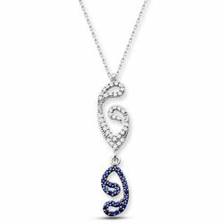 925 Sterling Silver Inverted Vav Choker - Thumbnail
