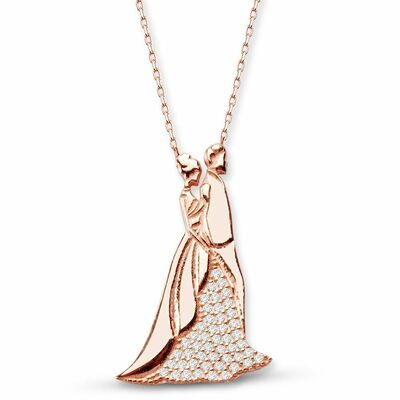 Lifetime 925 Sterling Silver Zircon Stone Necklace