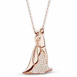 Lifetime 925 Sterling Silver Zircon Stone Necklace - Thumbnail