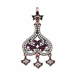 Genuine 925 sterling silver zircon necklace