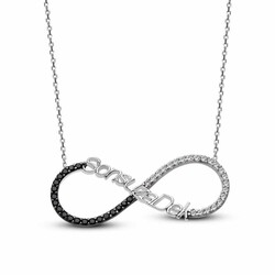Forever 925 Sterling Silver Zircon Necklace - Thumbnail