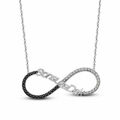 Forever 925 Sterling Silver Zircon Necklace
