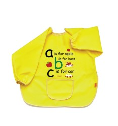 BabyJem - Large bib for baby worn for cleanliness - yellow
