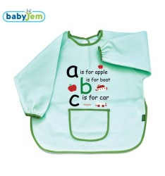 BabyJem - Large bib for baby worn for cleanliness - green