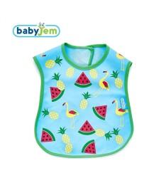 BabyJem - Baby Bib for Hygiene - Blue Flamingo Bird Shape