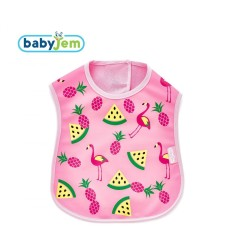 BabyJem - Baby Bib for Hygiene - Pink Flamingo Bird Shape