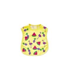 BabyJem - Baby Bib for Hygiene - Yellow Flamingo Bird Shape