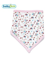 BabyJem - Baby Bib for CleanLiness - Pink Rose Shape