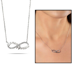 My Dear Mom 925 Sterling Silver Necklace - Thumbnail