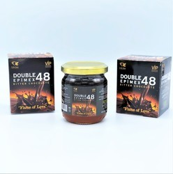 Double Epimex 48 Bitter Chocolate Natural Sexual Paste 230 gr - Thumbnail
