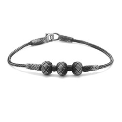 Tesbihane - Handicraft Globe Design 1000 Sterling Silver Bracelet
