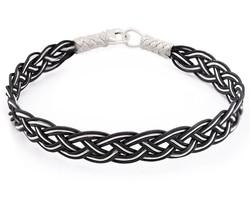 Tesbihane - Black-White Handicraft 1000 Sterling Silver Bracelet