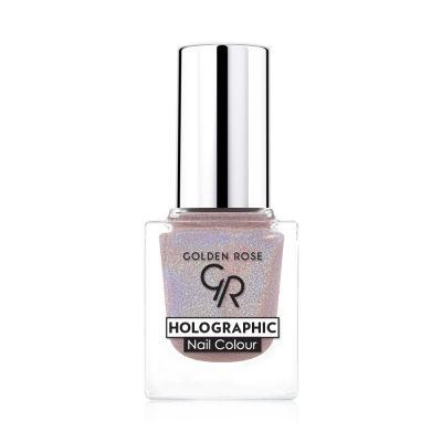 GR Holographic Nail Colour - Golden Rose Oje