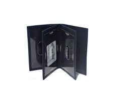 Guard Men's Leather Wallet / 1169 / Navy Blue - Thumbnail