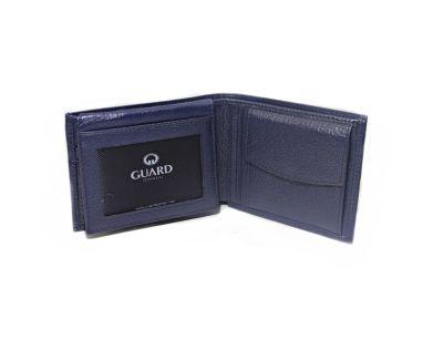 Guard Men's Leather Wallet / 743 / Navy Blue