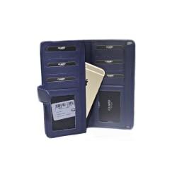 Guard Unisex Leather Wallet / 202 / Navy Blue - Thumbnail