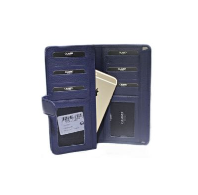 Guard Unisex Leather Wallet / 202 / Navy Blue
