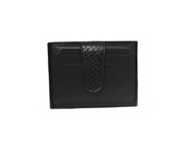 Guard Unisex Leather Card Wallet / 5246 / Black