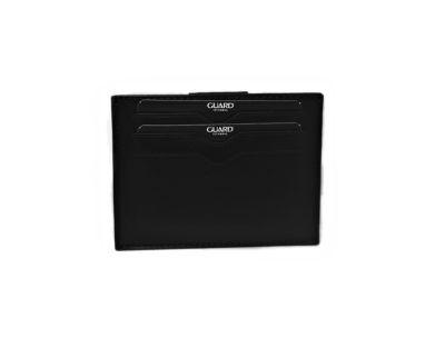 Guard Unisex Leather Card Wallet / 5246 / Black