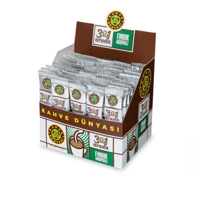 Kahve Dünyası Hazelnut Flavored 3in1 Full Package of 200