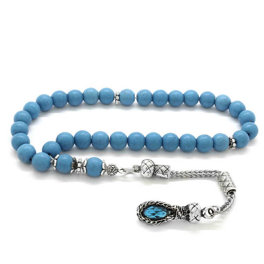 Metal Tasseled Blue Havlit Globe Rosary