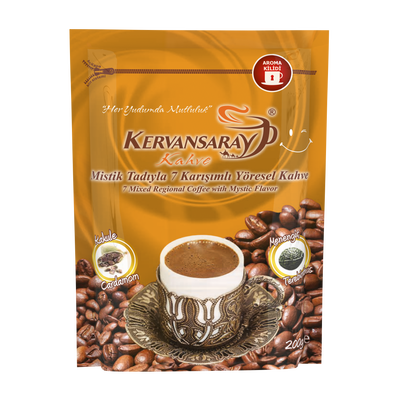 Kervansaray Turkish Coffee with Mastic Flavor 200 gr