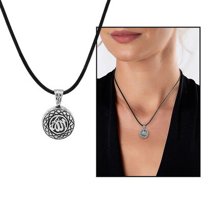 Personalized Sevshen 925 Sterling Silver Necklace with Allah Arabic Letter