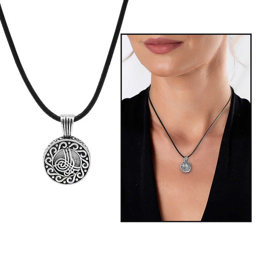 Sevshen 925 sterling silver necklace with name letter Tugra