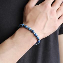 Tesbihane - Globe Cut Dark Blue Hematite Bracelet
