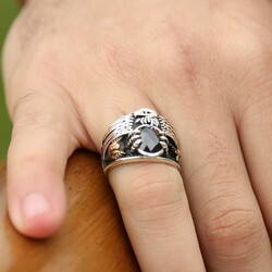 The Ultimate Emperor Ring in 925 Sterling Silver with Black Zirconia - Thumbnail