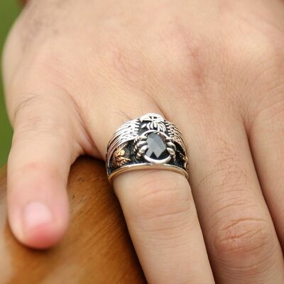 The Ultimate Emperor Ring in 925 Sterling Silver with Black Zirconia