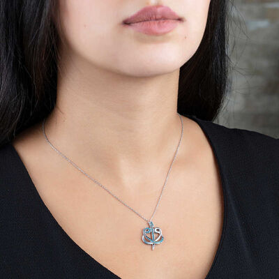 925 sterling silver necklace with zirconia, double plated in sterling silver
