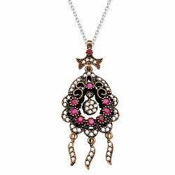 real zircon drop pendant necklace