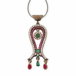 Tulip necklace with original zircon stones - Thumbnail